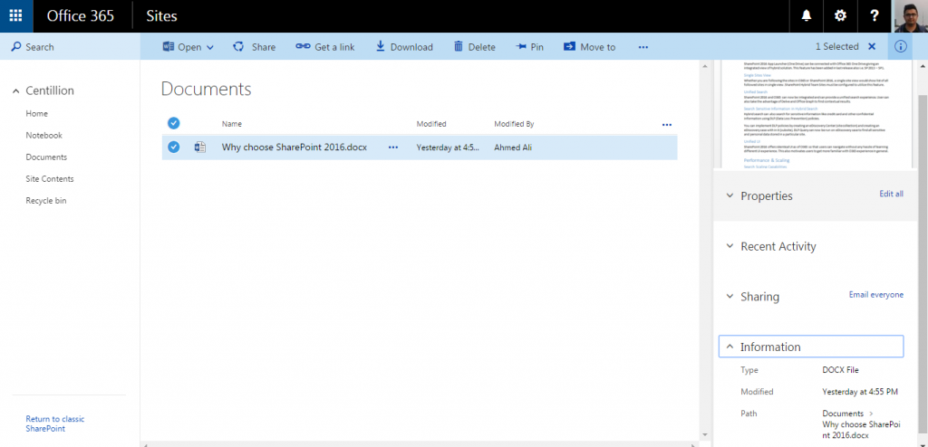 Centillion-SharePoint-Online-Enhanced-Document-Library