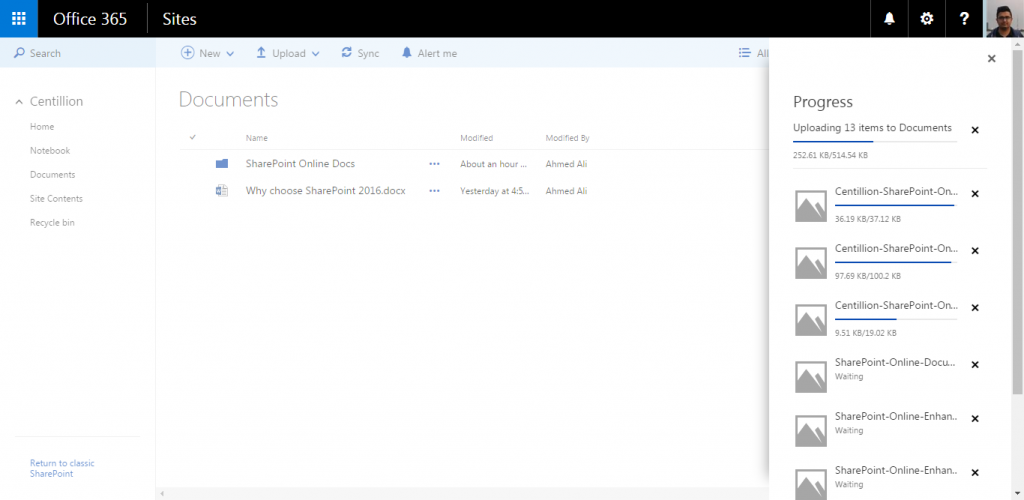 Centillion-SharePoint-Online-Enhanced-Document-Library-Folder-Upload