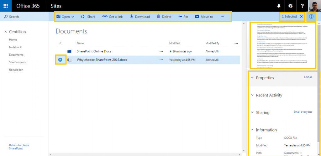 Centillion-SharePoint-Online-Enhanced-Document-Library-Navigation